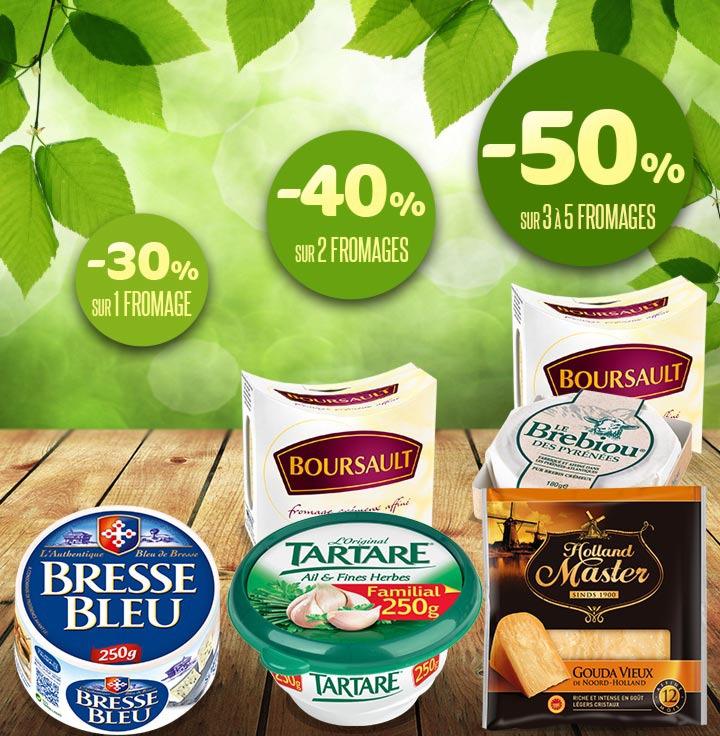 Jusqu'à 50% remboursés pour l'achat de 3 fromages (via shopmium) + BDR