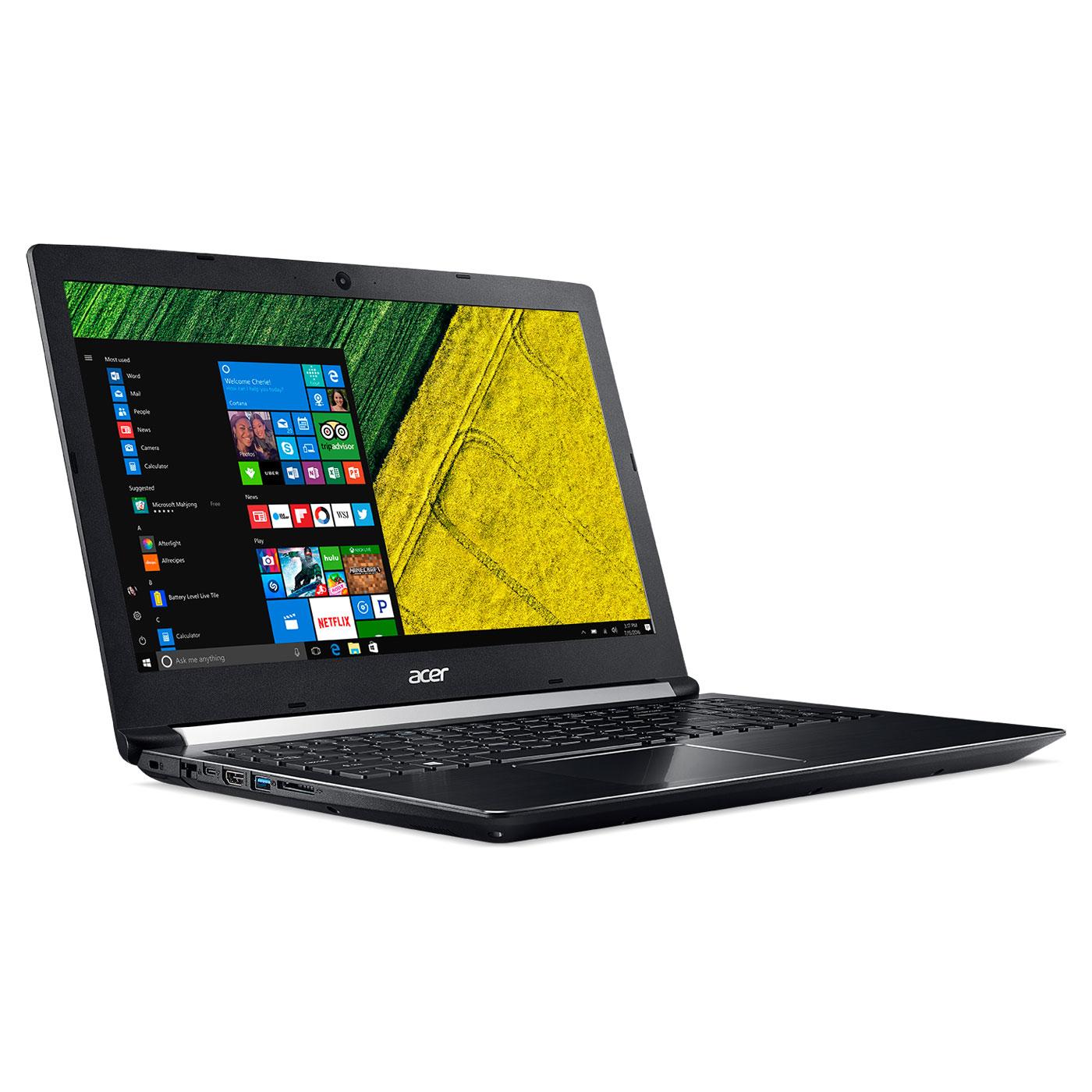 """PC portable 15.6"""" Acer Aspire 7 A715-71G-56YF - i5 7300HQ, 8 Go RAM, 1 To + 128 Go SSD, GTX 1050"""