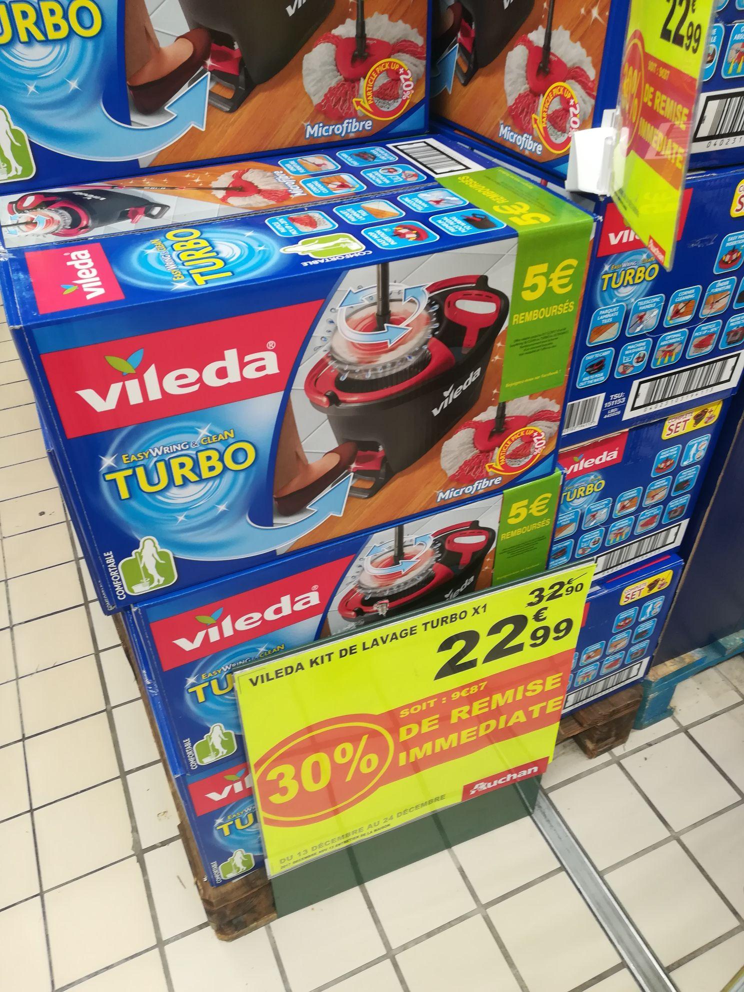 Kit de lavage balai + seau Vileda Easy Wring And Clean Turbo - Epagny (74)