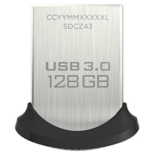 Clé USB 3.0 SanDisk Ultra Fit - 128 Go (Frais de Douanes inclus)