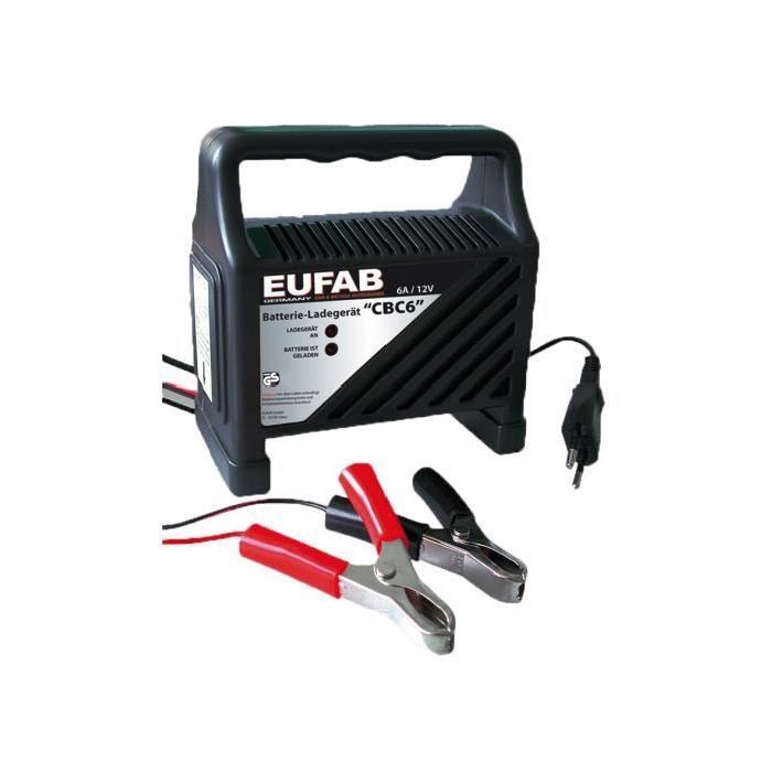 Chargeur de batterie Eufab - 6A, 12V