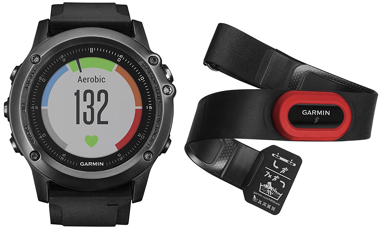 Jusqu'à 270€ de remise sur une sélection de montres et GPS Garmin - Ex : Montre GPS Multisports Outdoor Garmin - Fēnix 3 Sapphire Gray HR Cardio Poignet - Ceinture HRM-Run