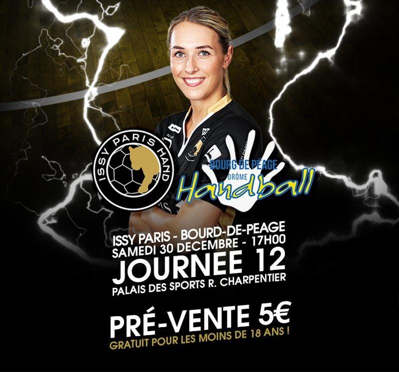 [-18 ans] Entrée gratuite pour le match de Handball Féminin Issy Paris Hand / Bourg-De-Péage Drôme Handball - Paris (75)