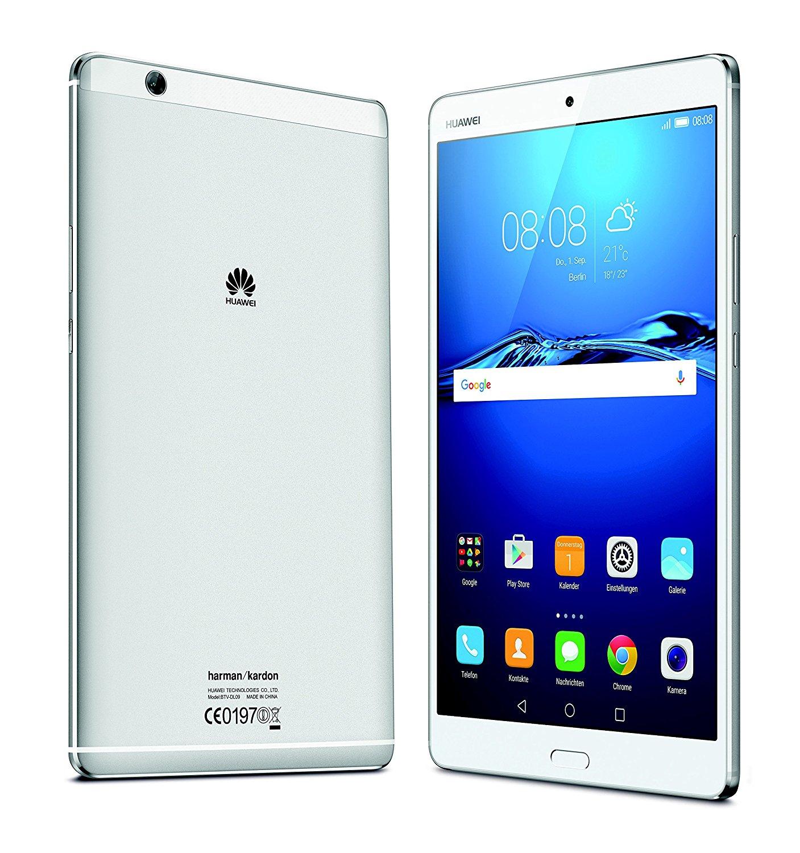 """Tablette tactile 8.4"""" Huawei Mediapad M3 4G - 4 Go de RAM, 32 Go, argent"""
