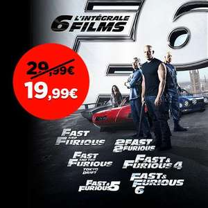 L'intégrale 6 films Fast and Furious en digital