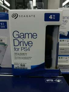 Disque dur externe Seagate Game drive pour PS4 - 4To (Mediamarkt Stuttgart, Frontaliers Allemagne)