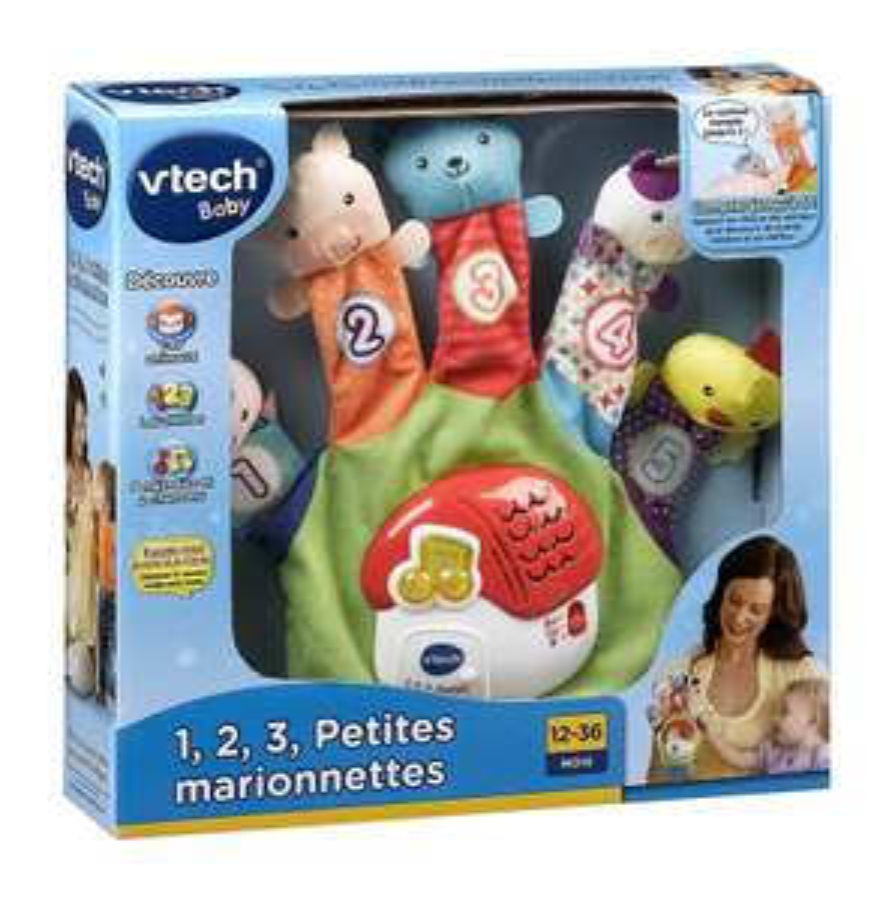 petites marionnettes Jeux d'éveil Vtech 1,2,3 (3.74€ sur la carte)