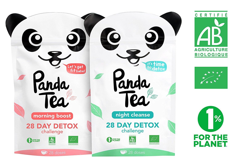 Thé détox biologique Panda Tea - challenge 28 jours (56 sachets) - (vendeur tiers)