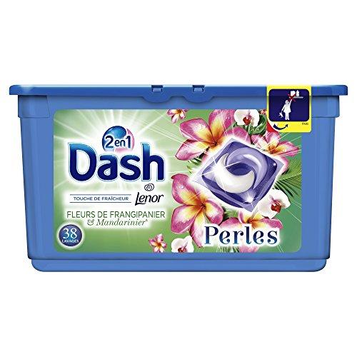 [Panier Plus] Lessive en Capsules Dash 2en1 Perles Fleurs De Frangipanier & Mandarinier - 38 Lavages