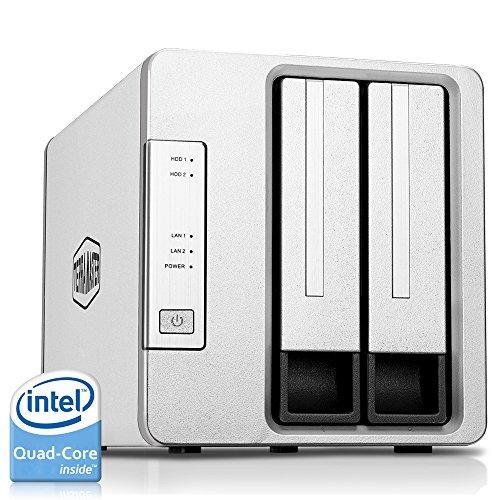 NAS TerraMaster F2-420 NAS 2 Baies Intel Quad Core 2.0GHz 4Go de RAM PLEX DLNA (vendeur tiers)