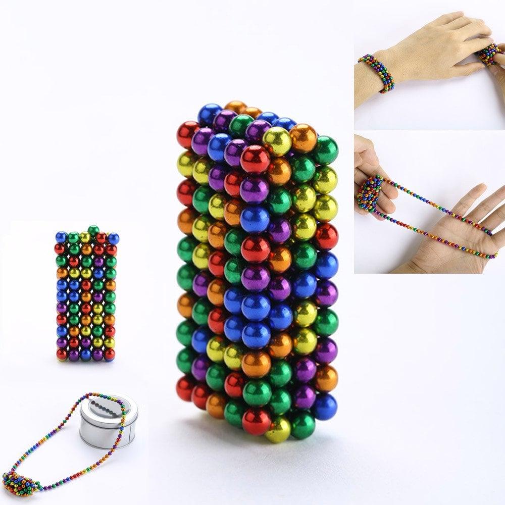 Lot de 216 Billes Magnétiques - Multicolore (5 mm)