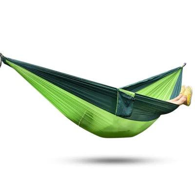 Hamac parachute portable - Vert, Max 300 kg, Tissu 210T (260 x 140 cm)