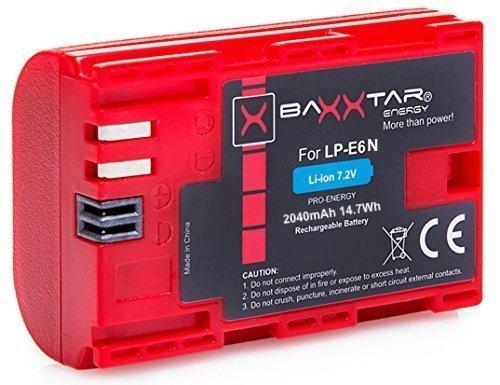 Batterie générique pour Canon LP-E6N Bundlestar Baxxtar Pro Energy - 2040 mAh (vendeur tiers)