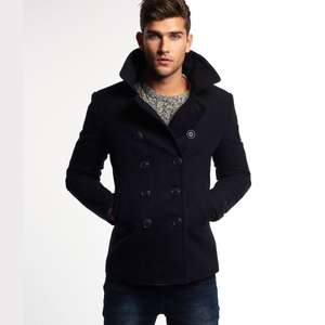 Caban homme Superdry Rookie Peacoat - Bleu