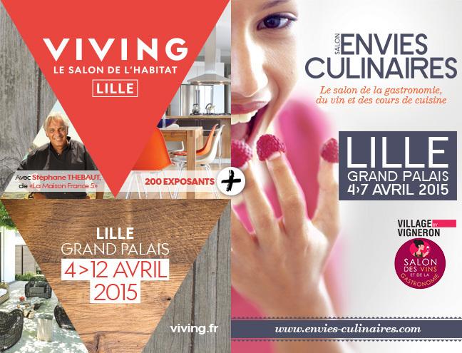 Invitation gratuite pour le salon de l'habitat (Lille 59) du 04 au 12 avril
