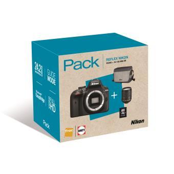 Pack Fnac Reflex Nikon D3400 + Objectif AF-S DX Nikkor 18-105 mm f/3.5-5.6 G ED VR + Fourre-tout + Carte mémoire SDHC 16 Go (via ODR et Optimisation)