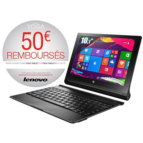 "Tablette hybride 10.1"" Lenovo Yoga Tablet 2-10-51 (avec ODR à 50€)"