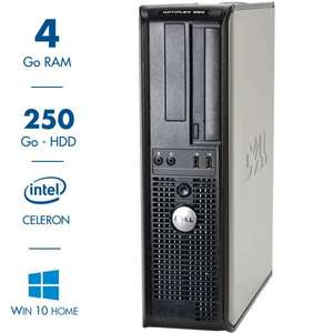 Ordinateur Dell Optiplex 380 - 4Go RAM, 250Go, Windows 10 Home, Occasion