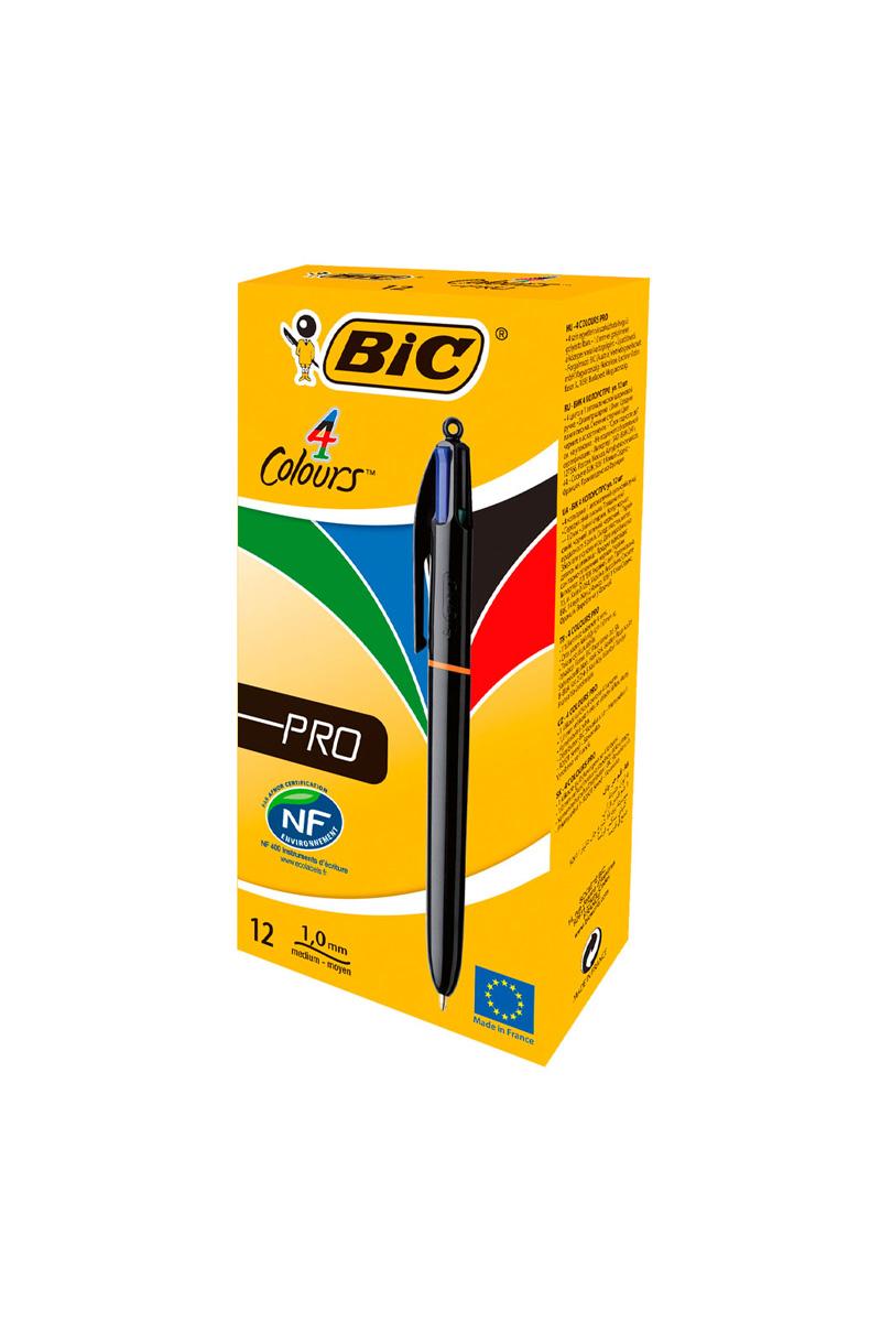 12 stylos Bic 4 couleurs Pro