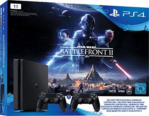 Pack Console PS4 (Noir) - 1 To + Star Wars Battlefront 2 + 2ème Manette