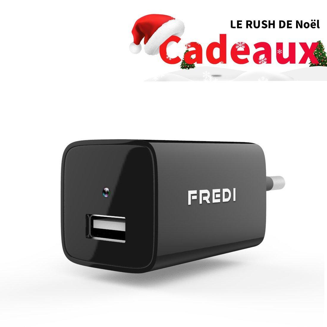 Chargeur USB FREDI avec Mini Caméra de Surveillance 1080P HD (vendeur tiers)
