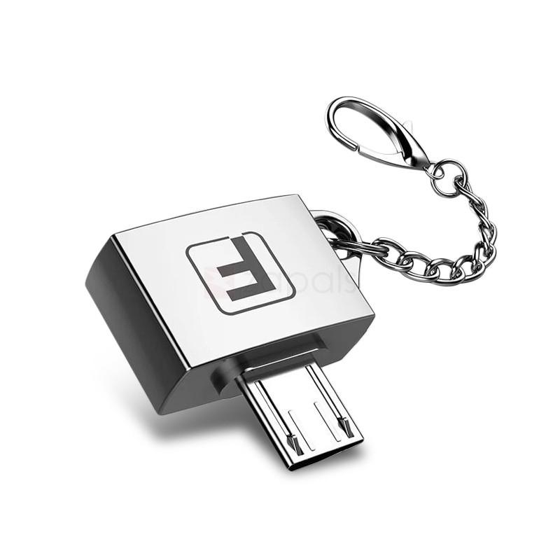 Adaptateur porte-clés Micro USB vers USB OTG - Coloris aléatoire (Livraison incluse)