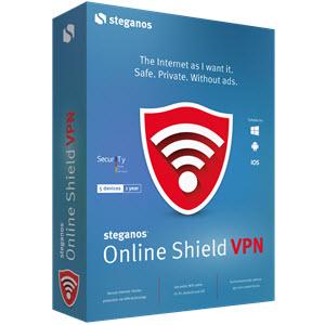 Licence pour service VPN Steganos gratuite - pendant 1 an (2 Go / mois)