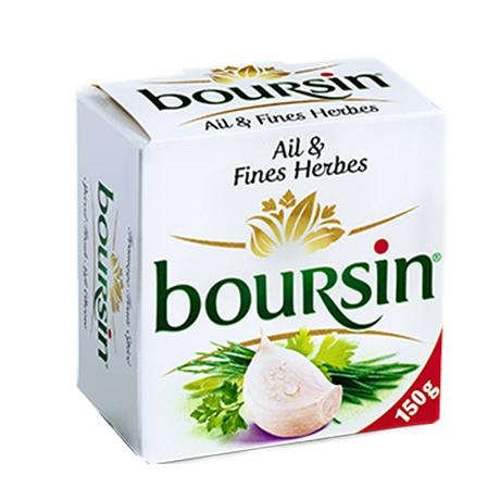 Fromage Boursin Ail et fines herbes 150 g (avec 30% sur la carte + 0.90€ en bon de réduction)