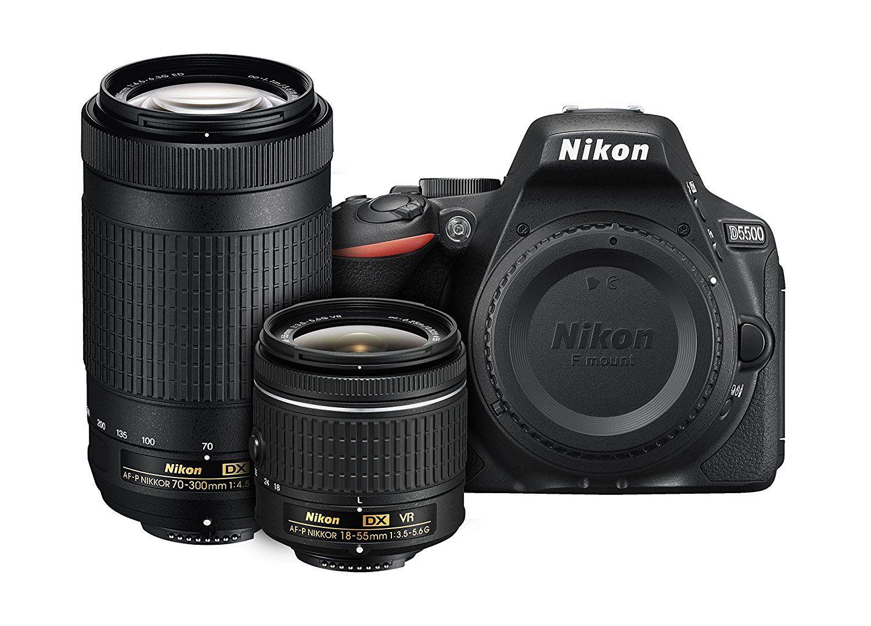 Pack Nikon - appareil photo numérique reflex D5500 (24.2 Mpix, CMOS) + objectifs AF-P DX Nikkor 18-55mm f3.5-5.6G VR + AF-P DX Nikkor 70-300mm f/4.5-6.3G ED (frais de douanes et port inclus, vendeur tiers)