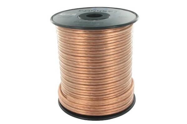 Câble HP Gold 2x4mm² doré Bobine de 50 mètres
