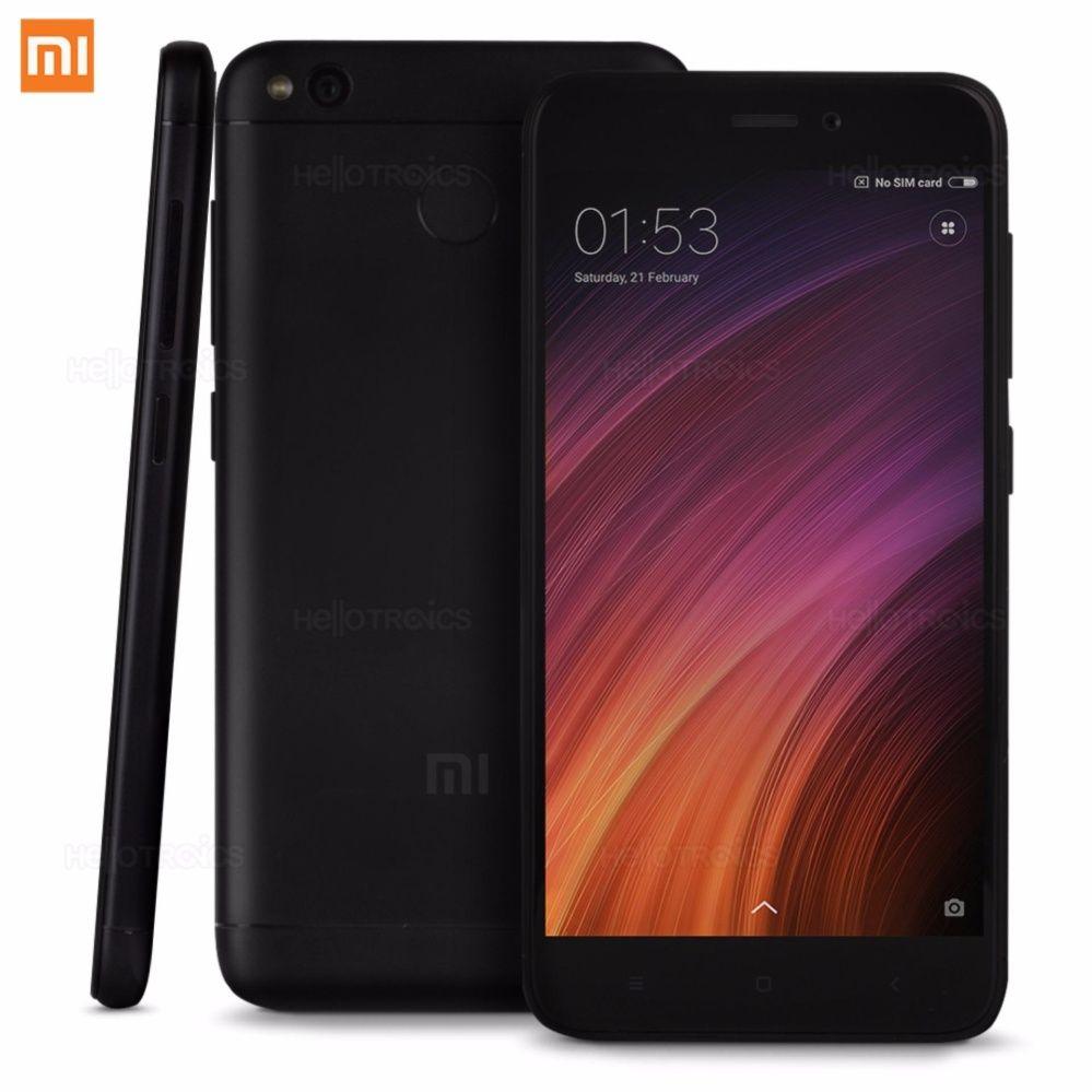 """Pack smartphone 5"""" Xiaomi Redmi 4X (SnapDragon 435, 3 Go de RAM, 32 Go, noir) + coque de protection transparente + film de protection d'écran en verre trempé"""