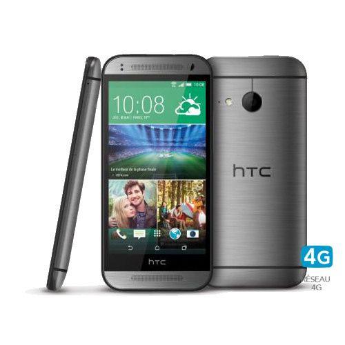 "Smartphone 4.5"" HTC One mini 2 acier, or ou silver"