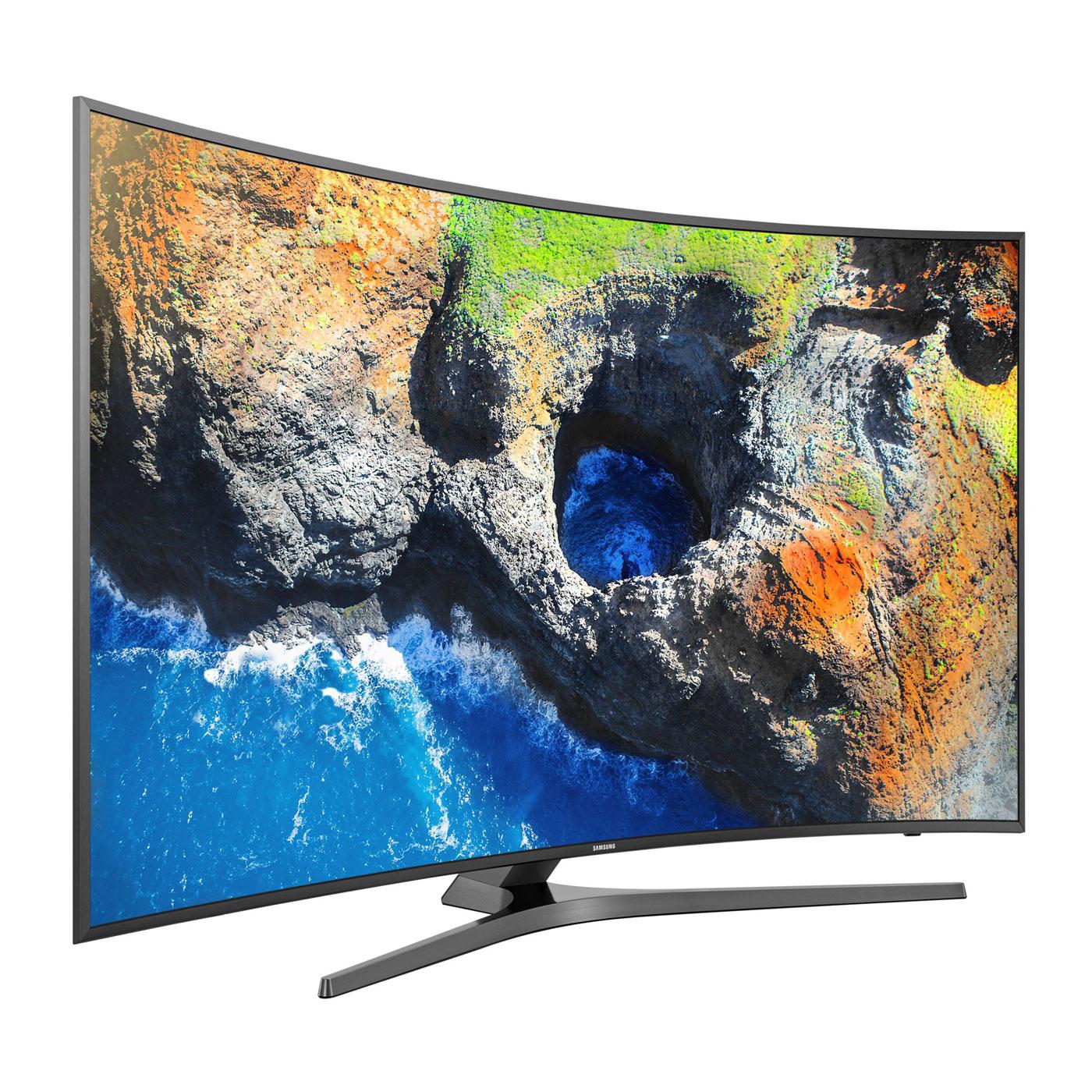 "TV LED 55"" Incurvée Samsung UE55MU6645 - UHD 4K, HDR, Smart TV (Via ODR 200€)"
