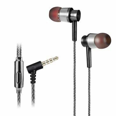 Écouteurs intra-auriculaires KSD-A23 avec microphone - Noir ou Bleu
