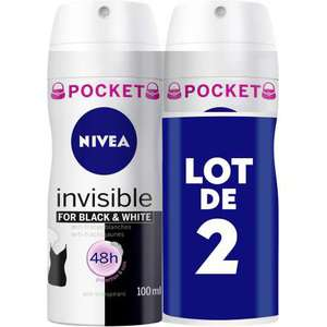 Lot de deux déodorants atomiseurs Nivea