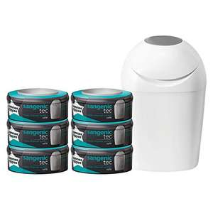 Pack poubelle à couches Tommee Tippee + lot de 6 recharges