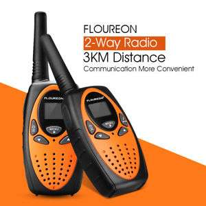 Lot de 6 Talkies​ Walkie Floureon - Noir/Orange