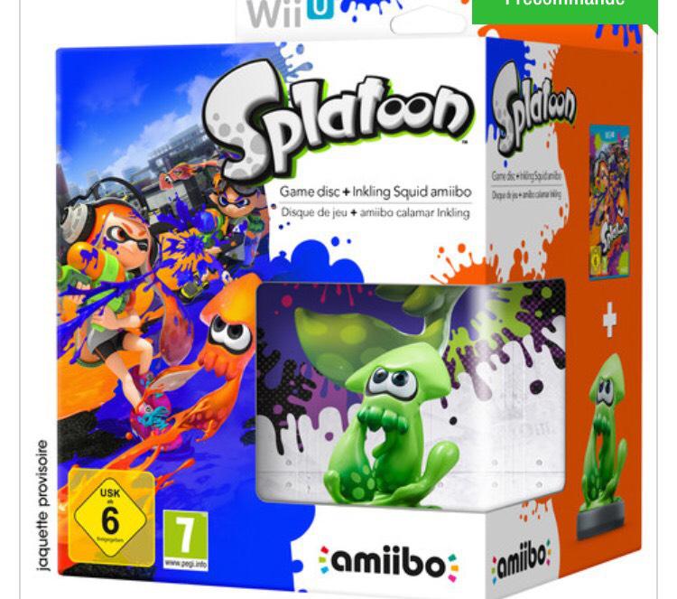 Précommande  Jeu + Amiibo Splatoon sur Wii U