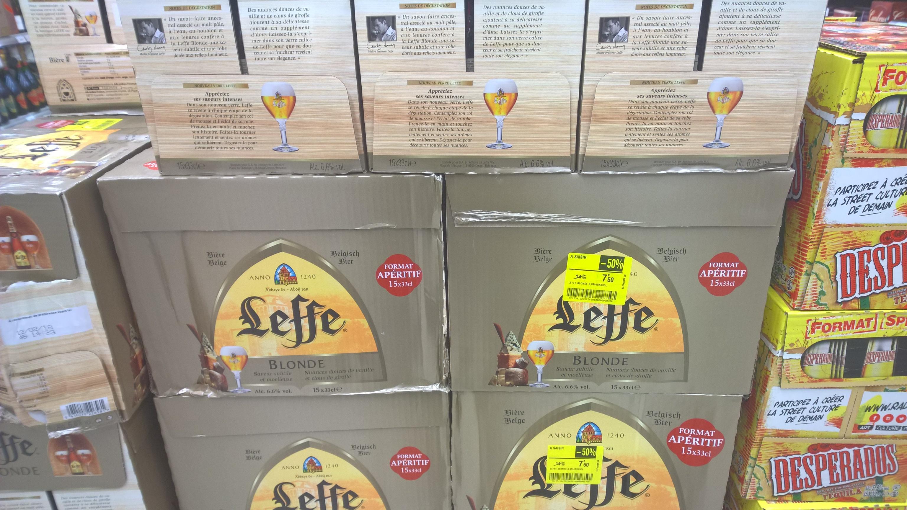Pack de 15 bouteilles de 33cl de Leffe   - st soupplets (77)