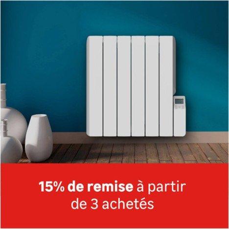 15% de remise à partir de 3 radiateurs Equation achetés + 10% carte maison