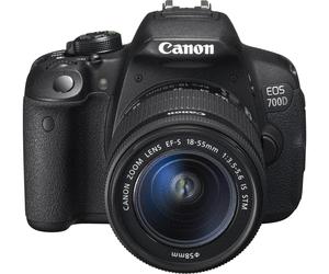 Appareil photo numérique reflex Canon EOS 700D (18 Mpix, CMOS, full HD) + objectif 18-55 mm IS STM