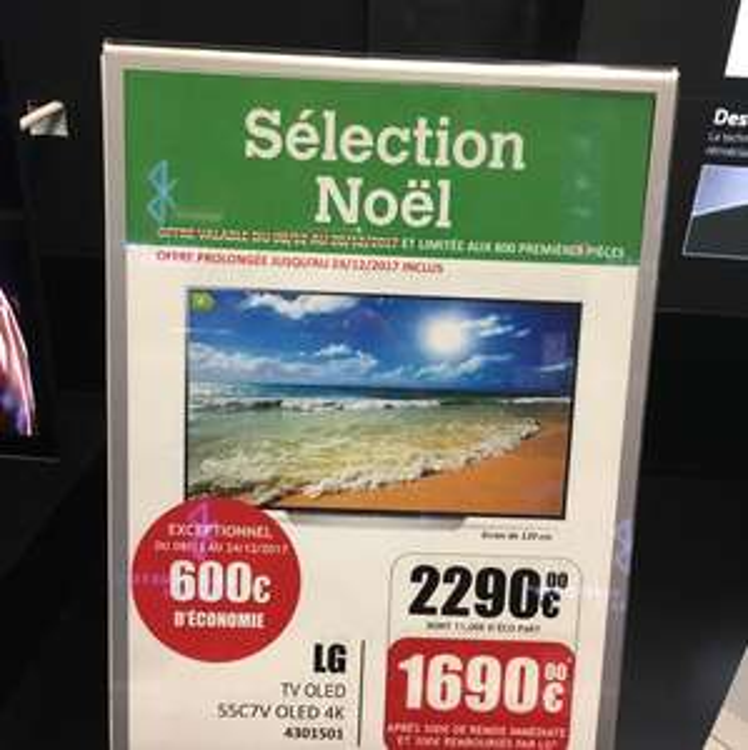 "TV 55"" LG 55C7V - 4K UHD, OLED (via ODR de 300€) - Limonest (69)"