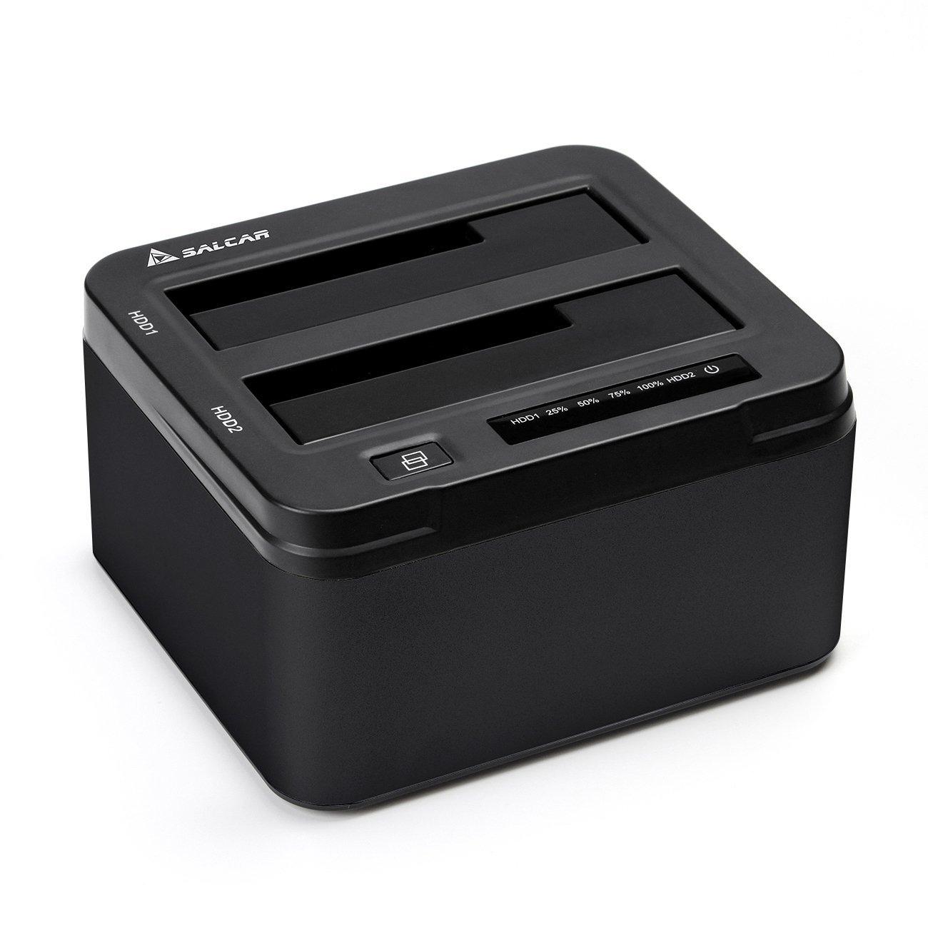 Station d'accueil USB3.0 Salcar pour HDD/SDD - 2 slots (Vendeur tiers)