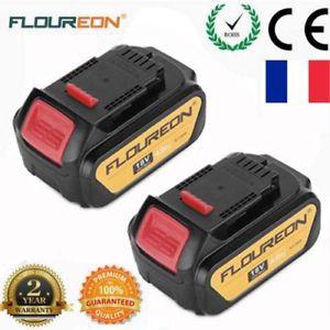 Deux Batteries Floureon 18V 4Ah pour outils Dewalt