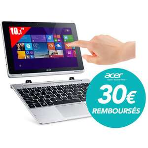 "PC hybride 10.1"" Acer Aspire WUXGA - Intel Atom Z3735F - HDD 500Go + eMMC 32 Go - RAM 2Go - Win 8.1 (30€ ODR)"