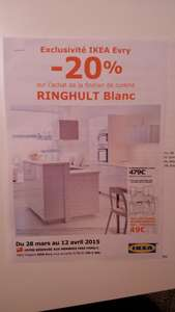 -20% sur les façades de cuisine Ringhult - Blanc