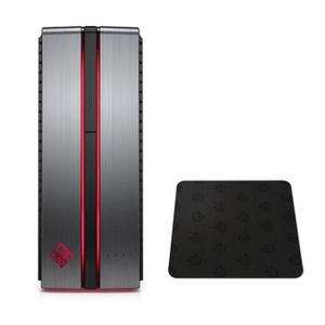 Tour PC Gamer HP Omen HP870214nf - 8Go de RAM - Windows 10 - i5-7400 - GTX 1070 - 1To + SSD 128Go + Tapis de Souris Omen (Via ODR 100€)