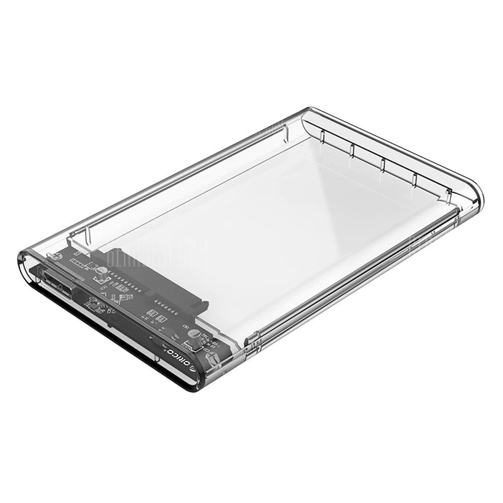 "Boitier Disque dur (SSD) 2,5"" USB 3.0 Orico 2139U3 - Transparent"