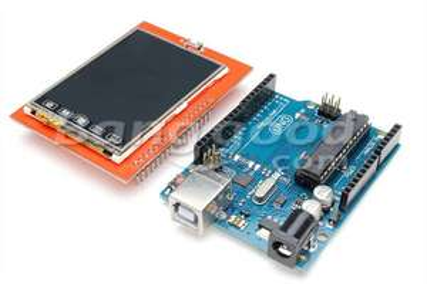 """Arduino UNO R3 + shield écran tactile 2.4"""""""