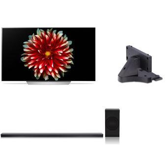 TV LG 55C7V OLED - UHD 4K + Barre de son SJ8 Noire + Support TV T8 Noir (+230€ en Fidélité pour les adhérents - Via ODR 300€)